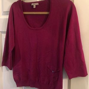 Burberry mulberrypink sweater outside small pocket